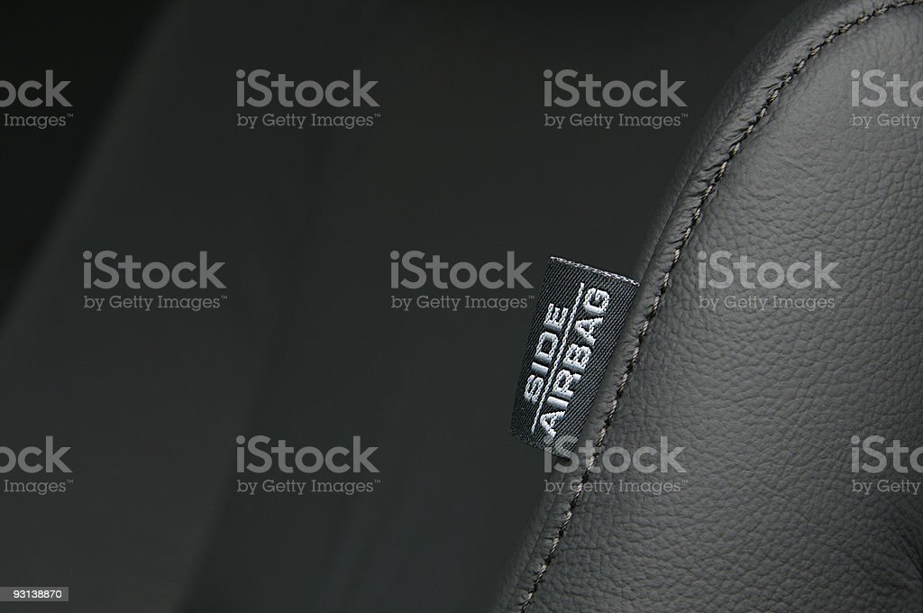 Airbag Label royalty-free stock photo