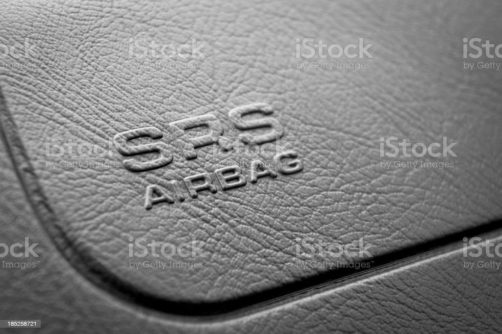 SRS Airbag Sign stock photo