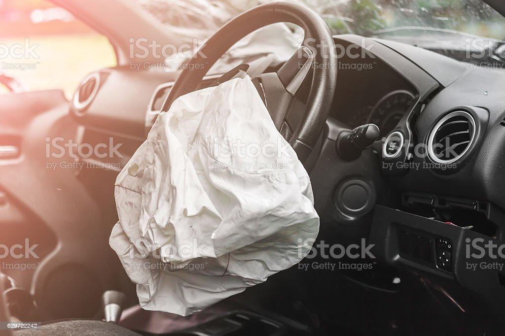 Airbag work stock photo