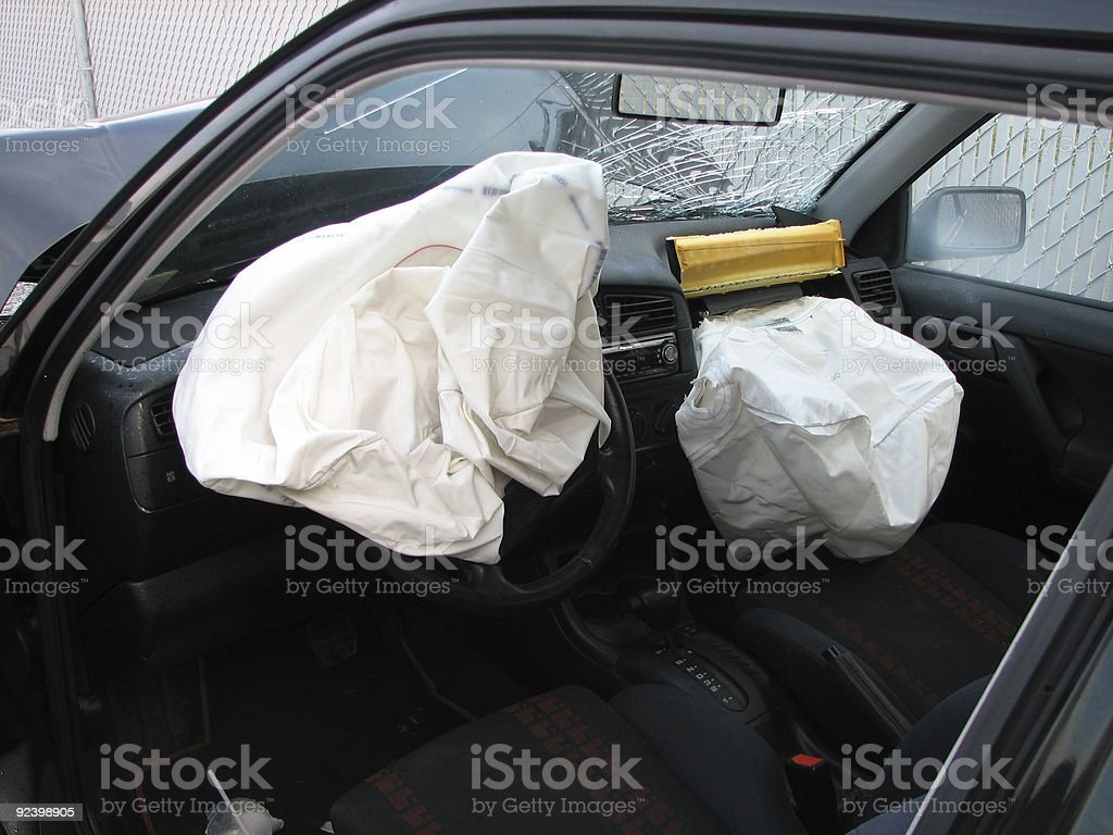 Airbags Save Lives stock photo