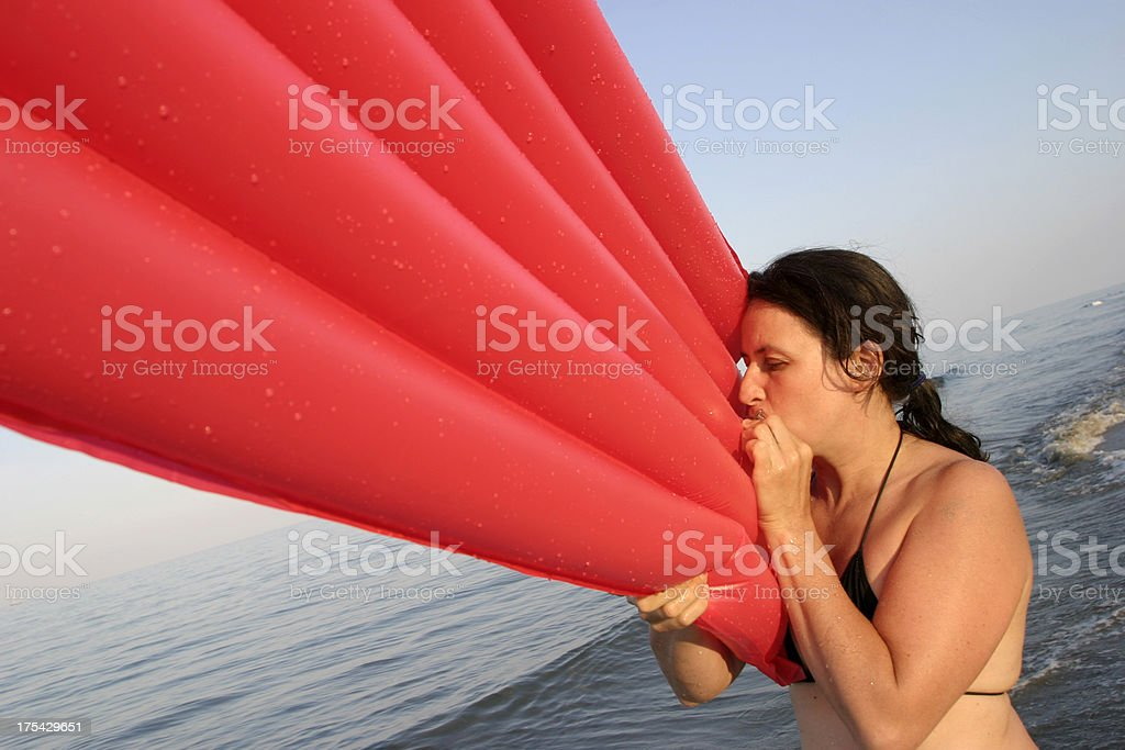 Airbed royalty-free stock photo