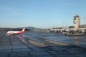 Airberlin airplane in Zurich airport