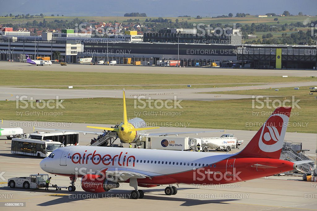 Airberlin at the Stuttgart Airport stock photo