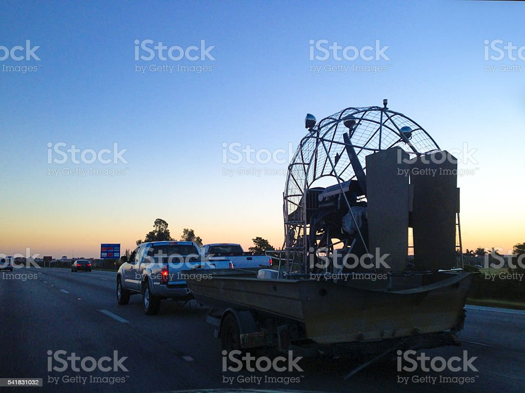 Airboat stock photo