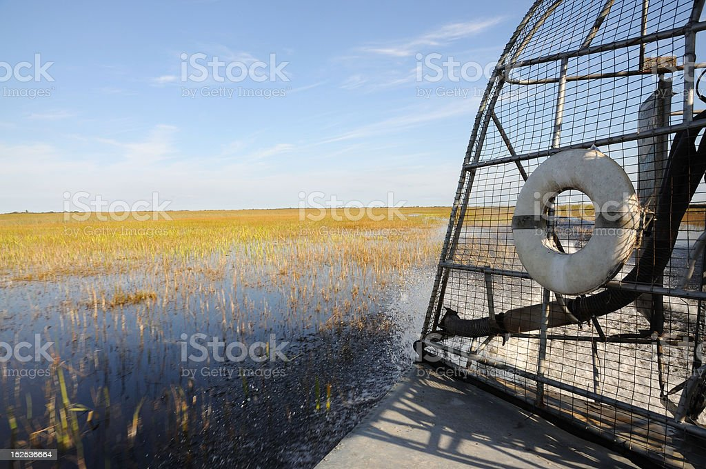 Airboat Ride in the Everglades, Florida stock photo