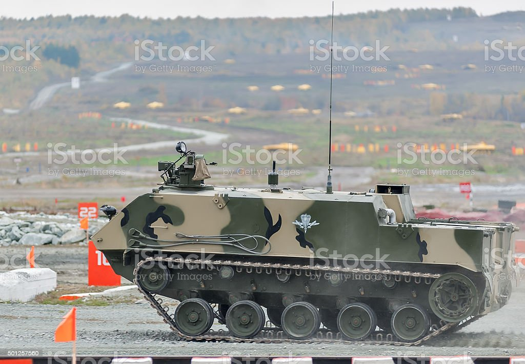 Airborne armoured personnel carrier BTR-MDM stock photo