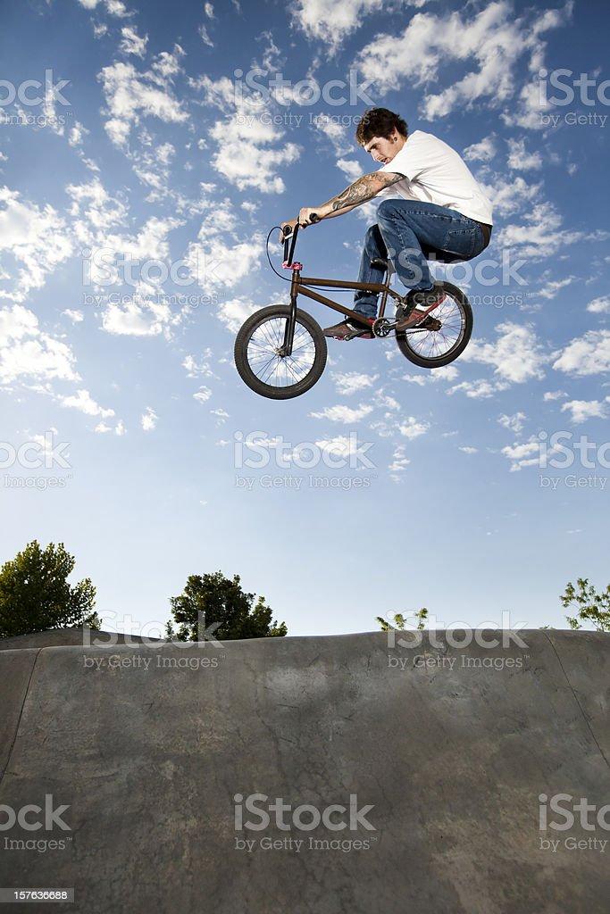 Airborne BMX Rider royalty-free stock photo