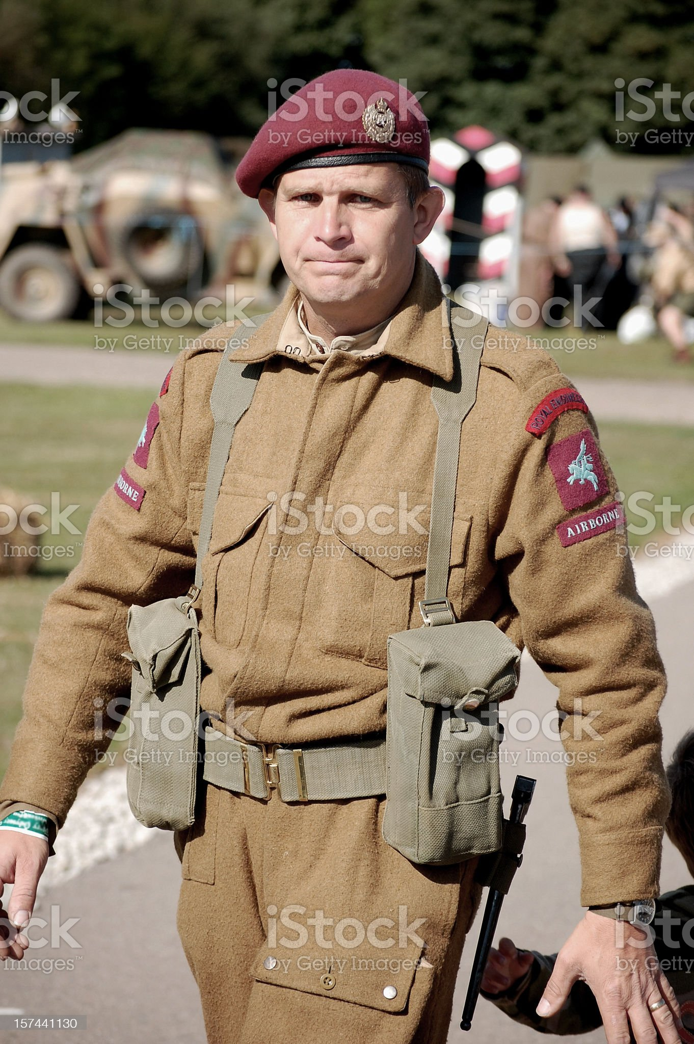 Airborne British Soldier. royalty-free stock photo