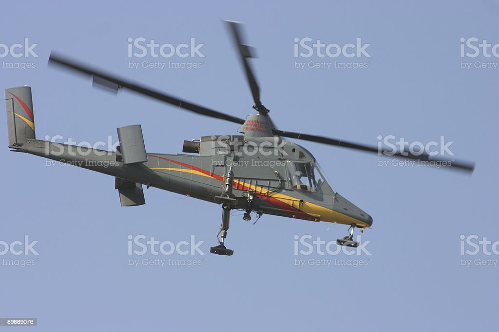 Airborne helicopter royalty-free stock photo