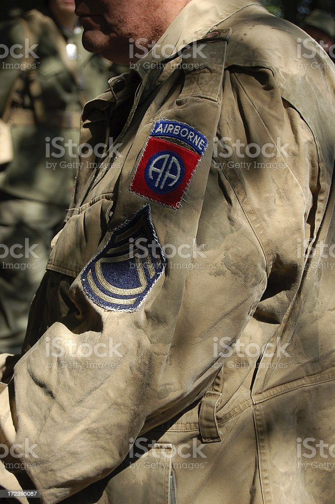 Airborne Infantry Soldier. royalty-free stock photo