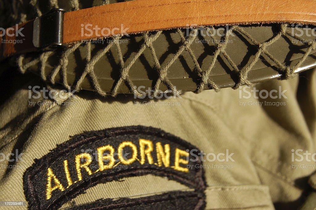 Airborne Military stock photo