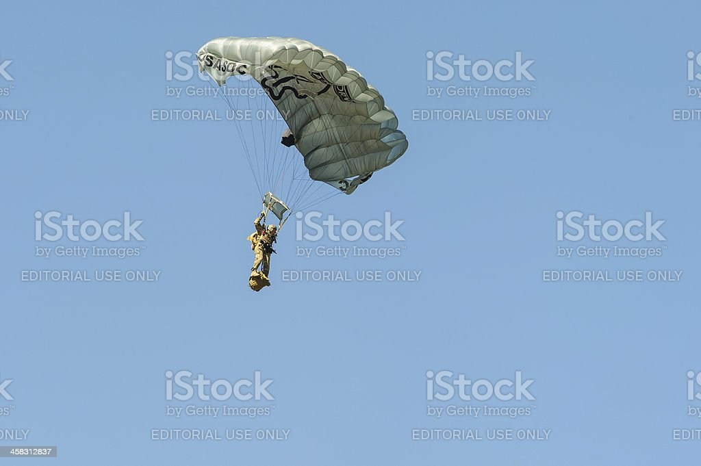 Airborne paratrooper royalty-free stock photo