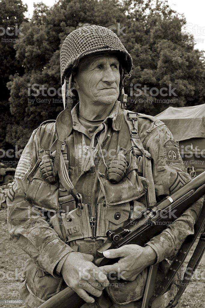 WW2 US Airborne. stock photo