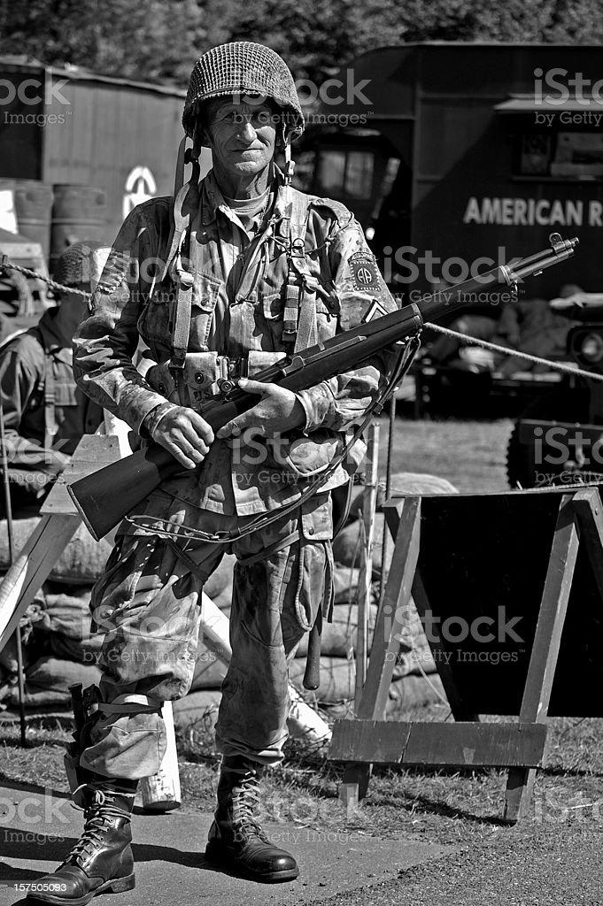 WW2 US Airborne Soldier. stock photo