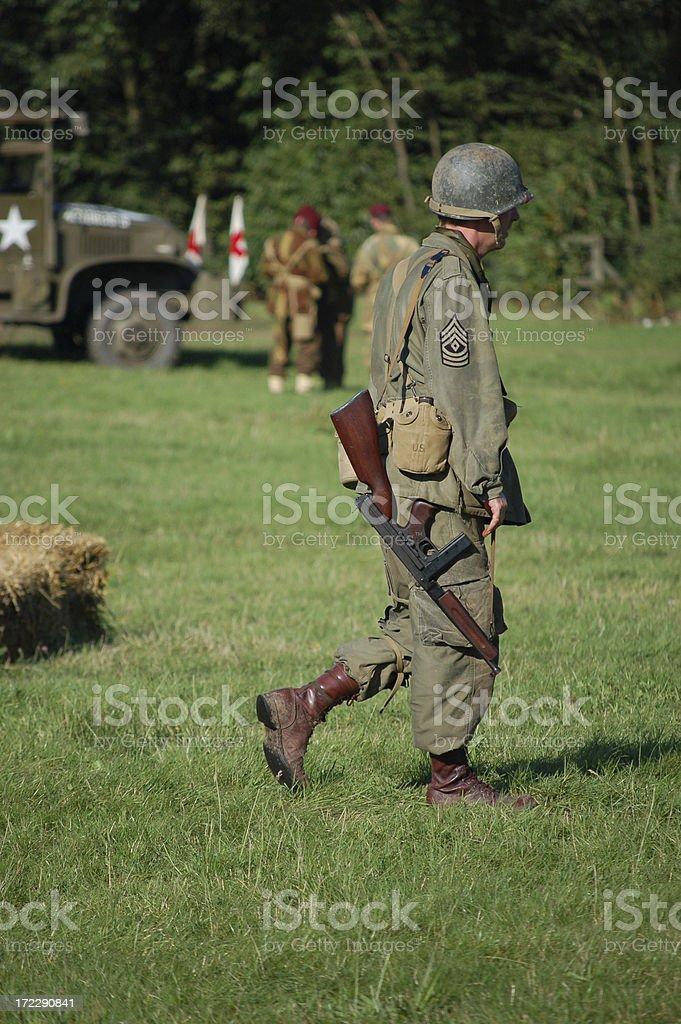 Airborne Soldier WW2. stock photo
