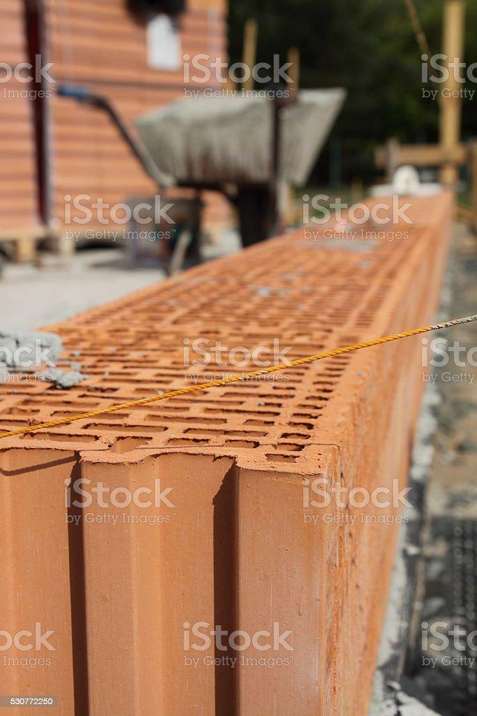 Airbricks in line stock photo