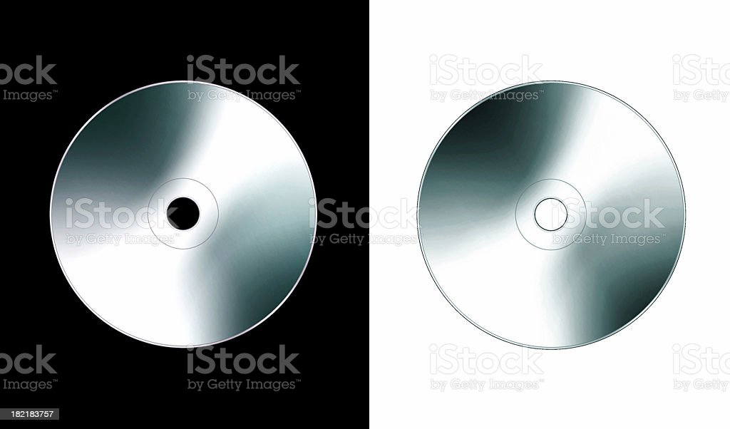 airbrush art - Compact Disc - Silver royalty-free stock photo