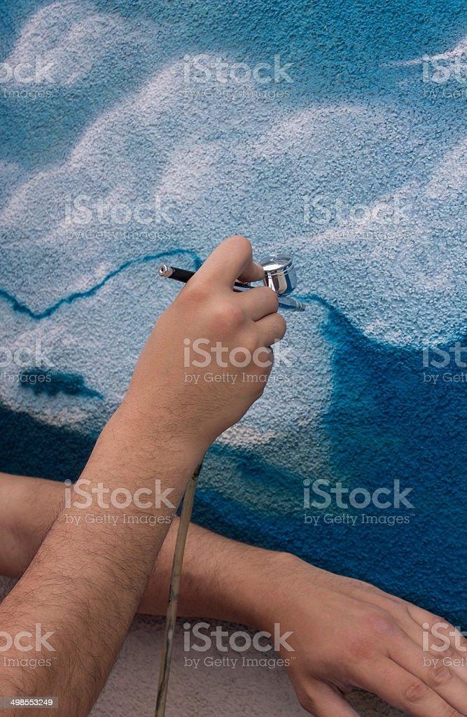 Airbrush painting royalty-free stock photo