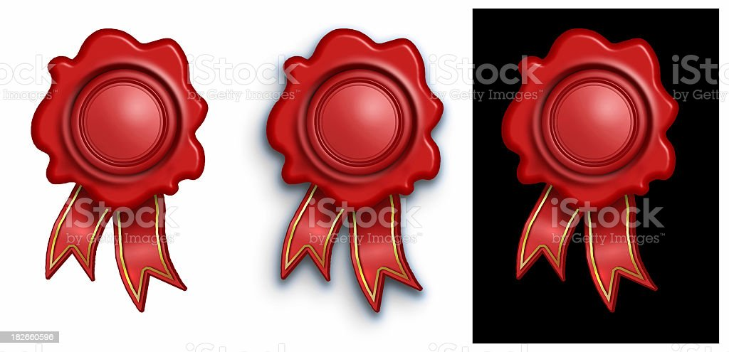 airbrushed Bees Wax Seal stock photo