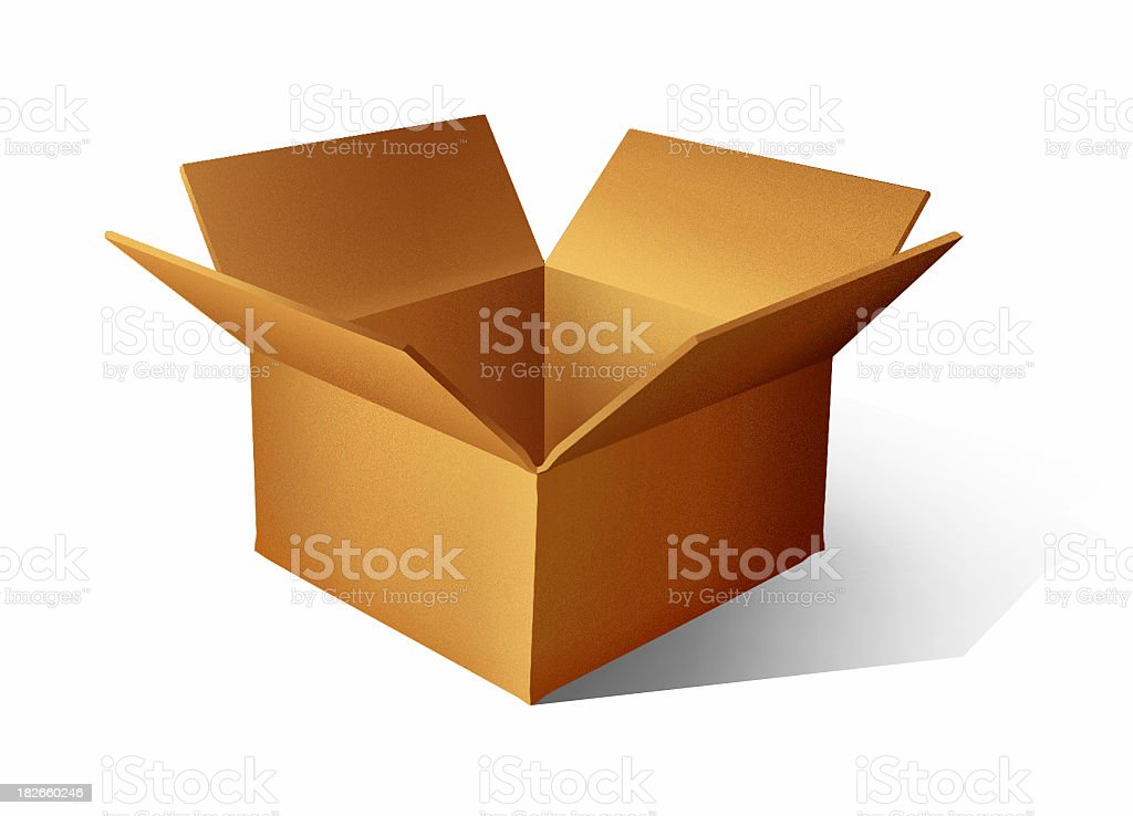 airbrushed Cardboard Box - [ 3 ] royalty-free stock photo