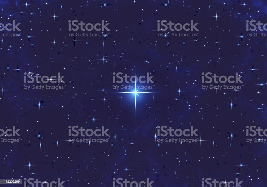airbrushed sky at night (06) XL royalty-free stock photo
