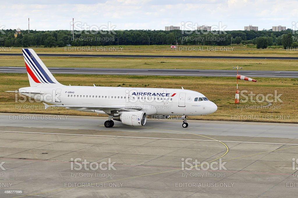 Airbus A 319 ready to start royalty-free stock photo