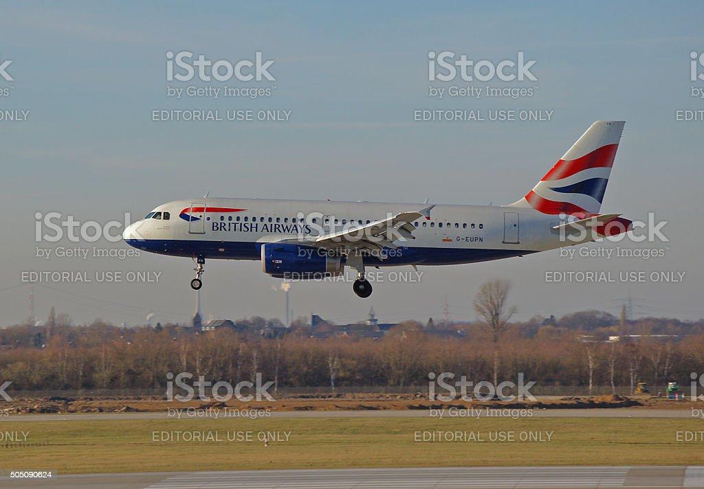 Airbus A 319-100 of British Airways stock photo