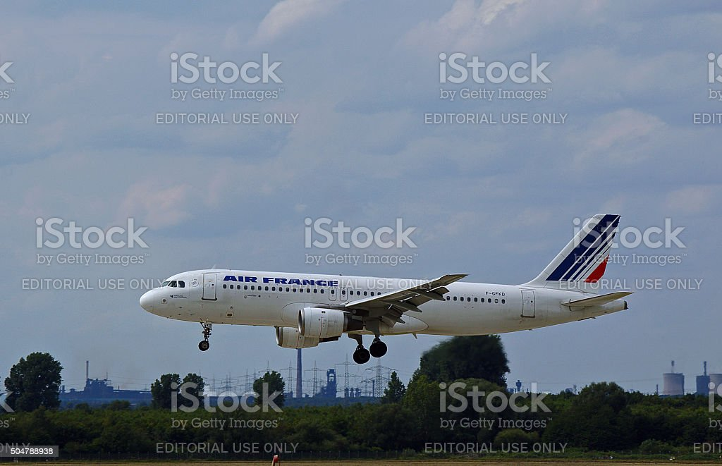 Airbus A 320-100 of Air France stock photo