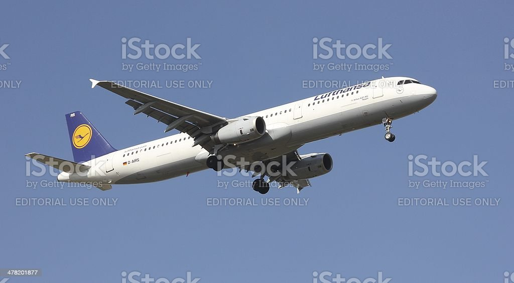 Airbus A 321 stock photo