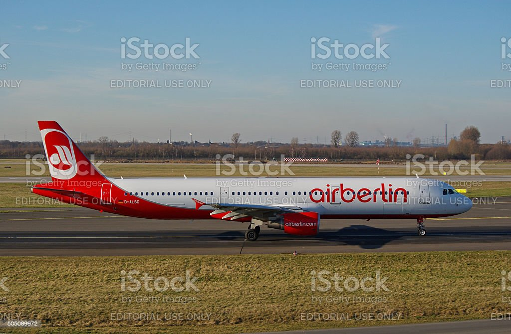 Airbus A 321-200 of Air Berlin stock photo