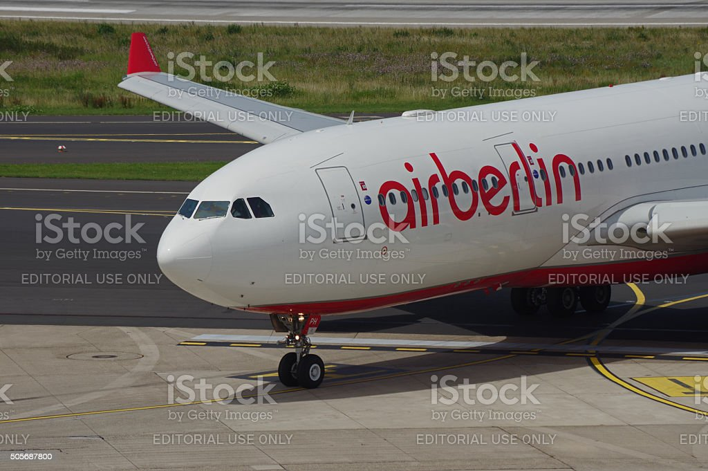 Airbus A 330-200 of Air Berlin stock photo