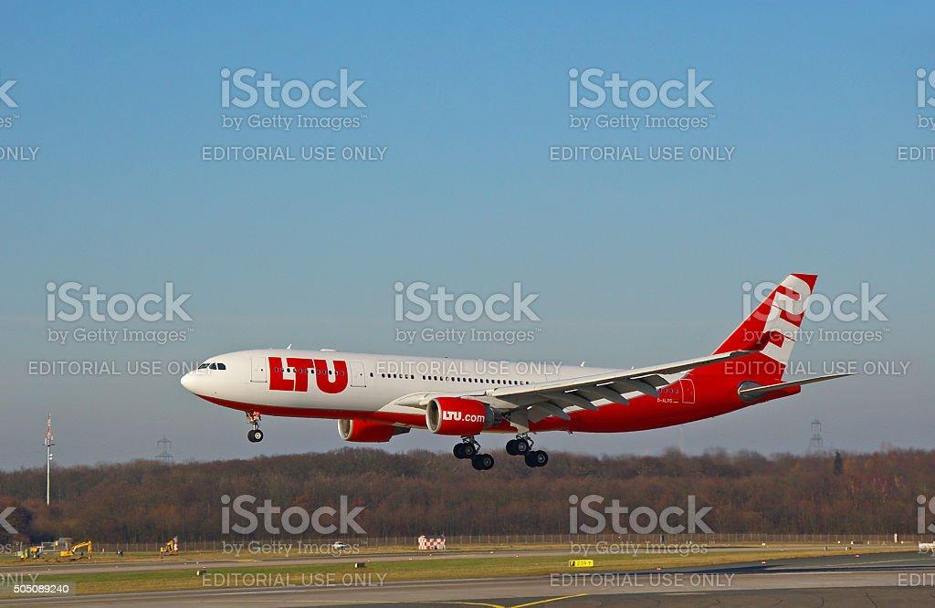 Airbus A 330-200 of LTU stock photo