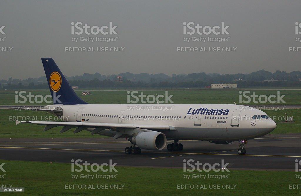 Airbus A300-600 of Lufthansa 'Mönchengladbach' stock photo