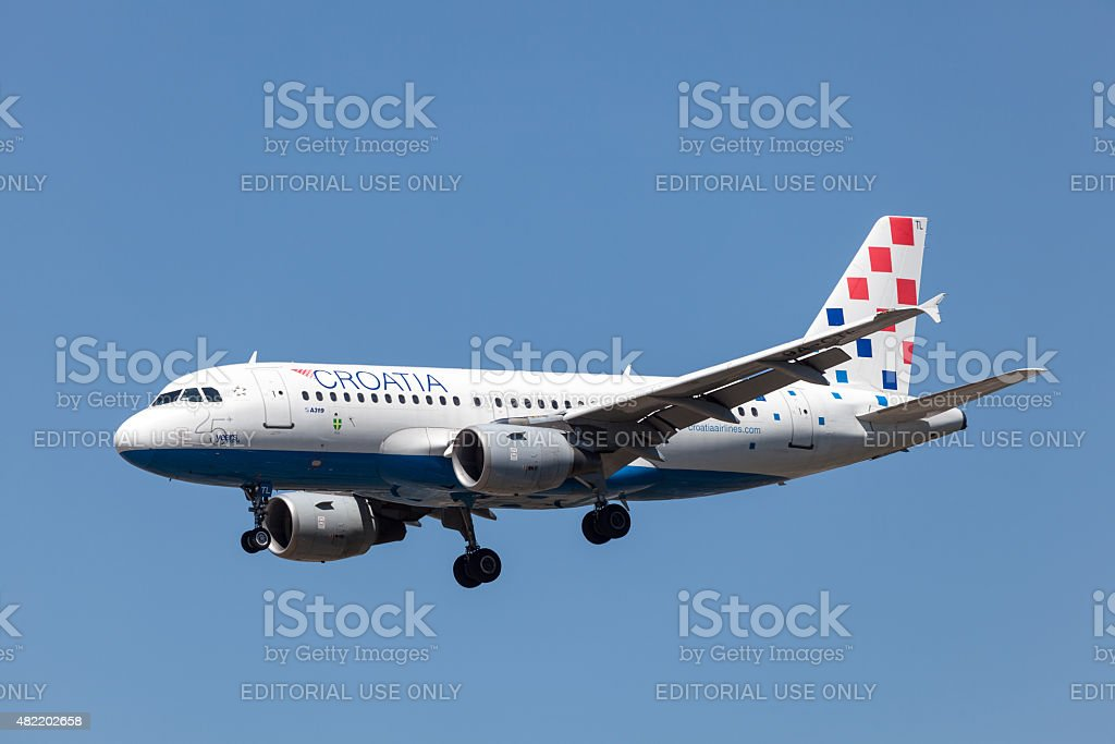 Airbus A319 of Croatia Airline stock photo