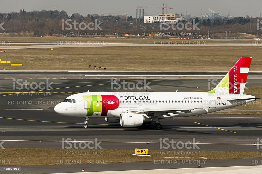 Airbus A319 royalty-free stock photo