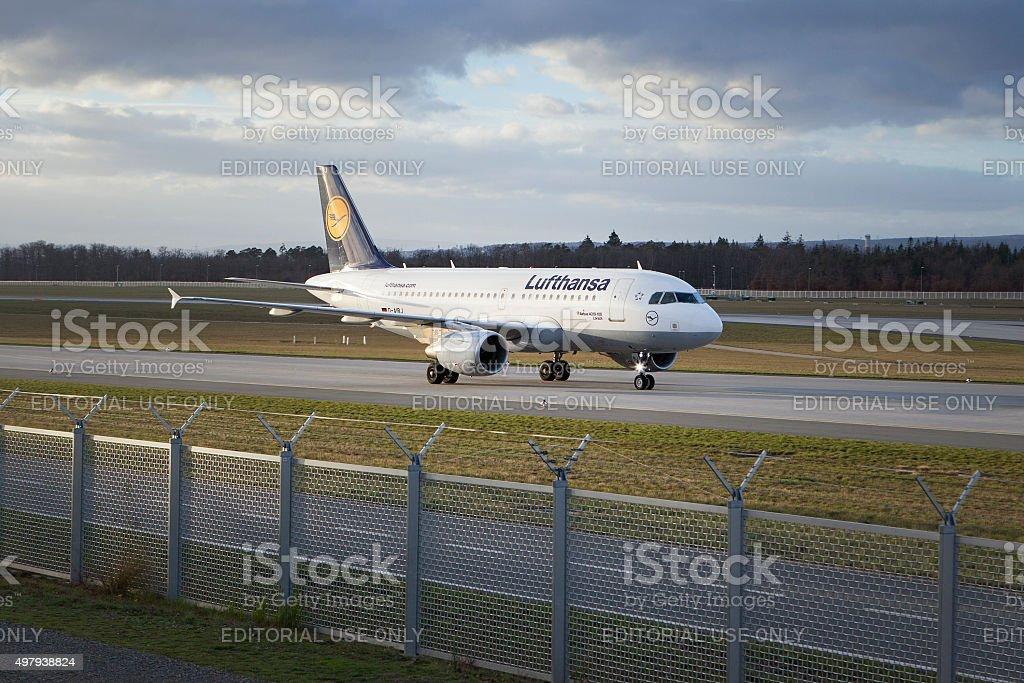 Airbus A319-100 Lorsch of Lufthansa stock photo