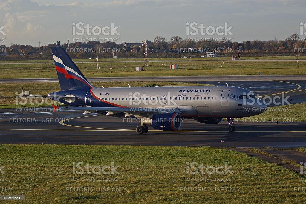 Airbus A319-100 of Aeroflot stock photo