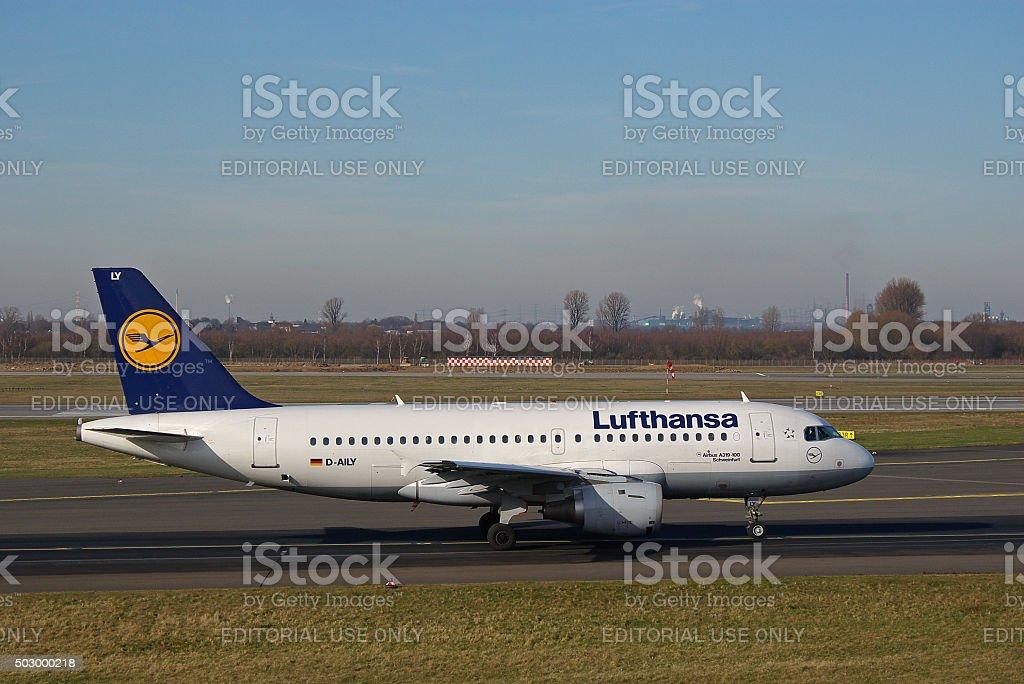 Airbus A319-100 of Lufthansa 'Schweinfurt' stock photo