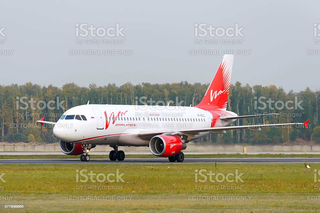 Airbus A319-111 Vim Airlines taxiing stock photo