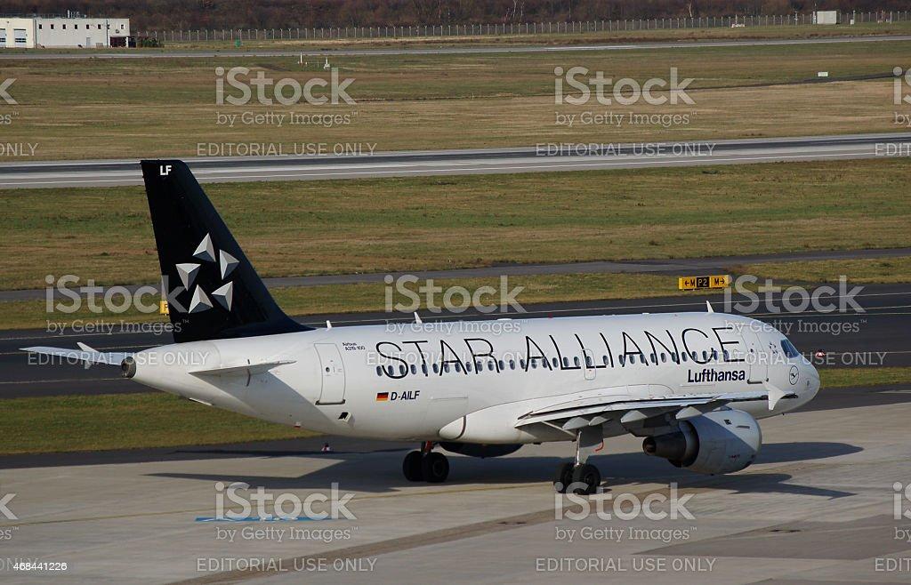 Airbus A319-114 Deutsche Lufthansa stock photo
