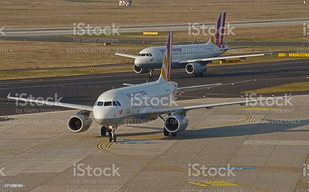 Airbus A319-132 of Germanwings stock photo