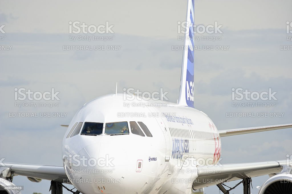 Airbus A320 at ILA Berlin Air Show 2012 stock photo