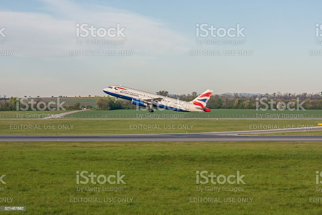 Airbus A320 British Airways stock photo