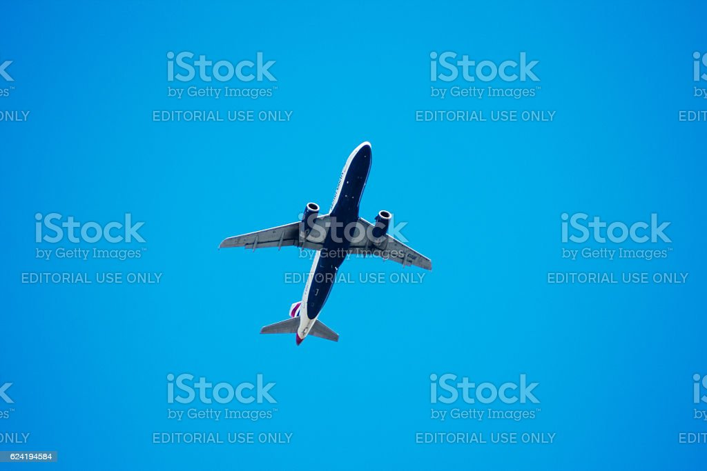 Airbus A320 from British Airways stock photo