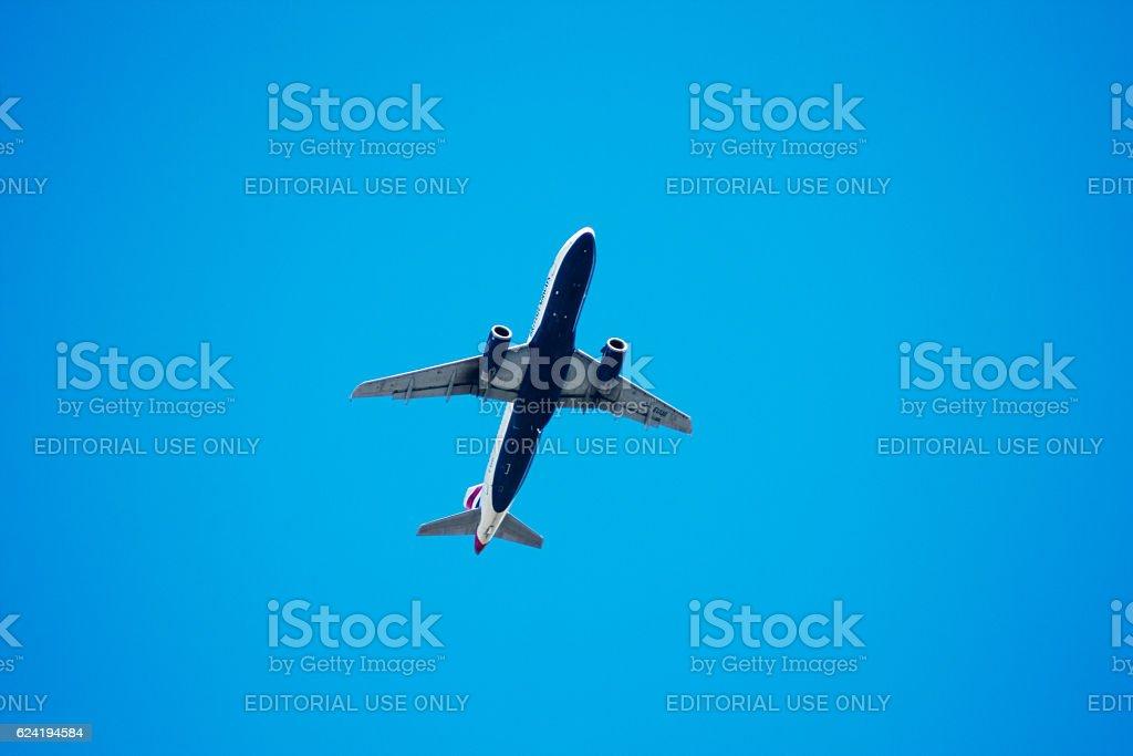 Airbus A320 from British Airways stock photo