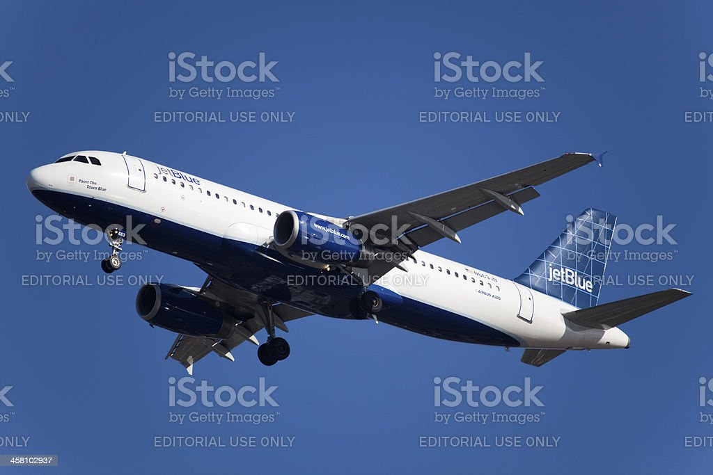 Airbus A320 JetBlue stock photo