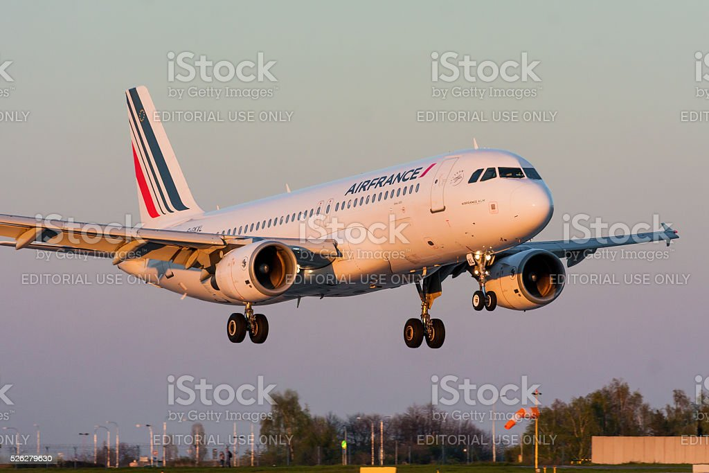 Airbus A320 of Air France stock photo