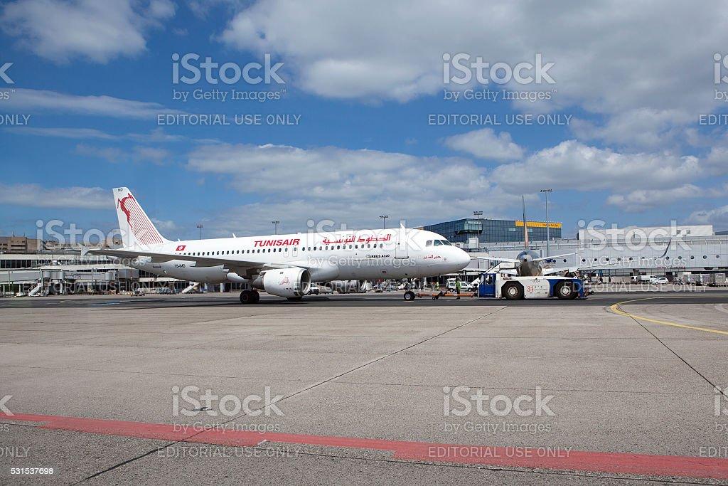 Airbus A320 Tunisair stock photo