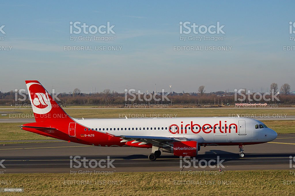 Airbus A320-200 of Air Berlin stock photo