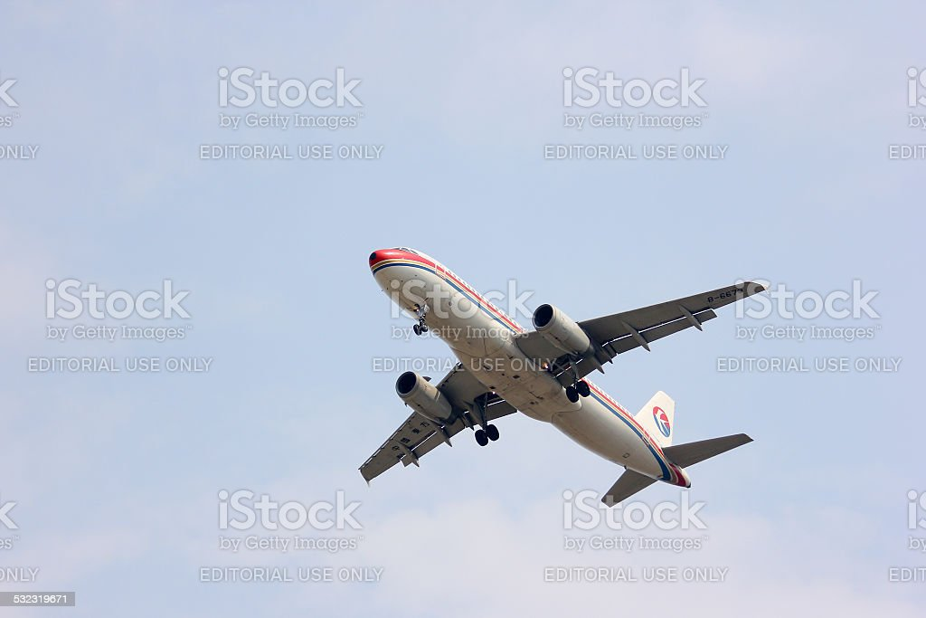 B-6673 Airbus A320-200 of China Eastern Airline stock photo